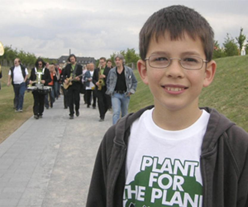 """Plant for the Planet"" is part of Lynne Cherry's ""Young Voices for the Planet"" series."